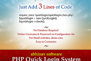 PHP Quick Login adds Login System on your websites